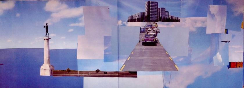 going nowhere psychogeography collage