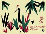 red top crane vector illustration Illustrator CC red panda one of China's dispapperaing species