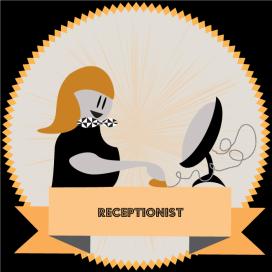 vector illustration in illustrator CC receptionist job