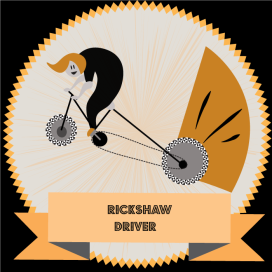 vector illustration in illustrator CCrickshaw driver