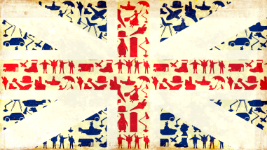 Union Jack Made up of British icons