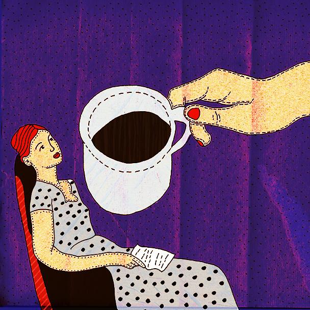coffee break illustration